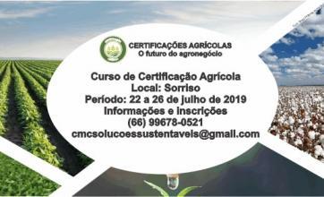 Curso sobre Certificações Agrícolas - o futuro do agronegócio