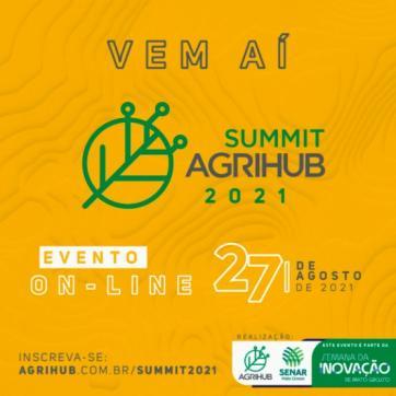 Summit AgriHub acontece no dia 27 de Agosto